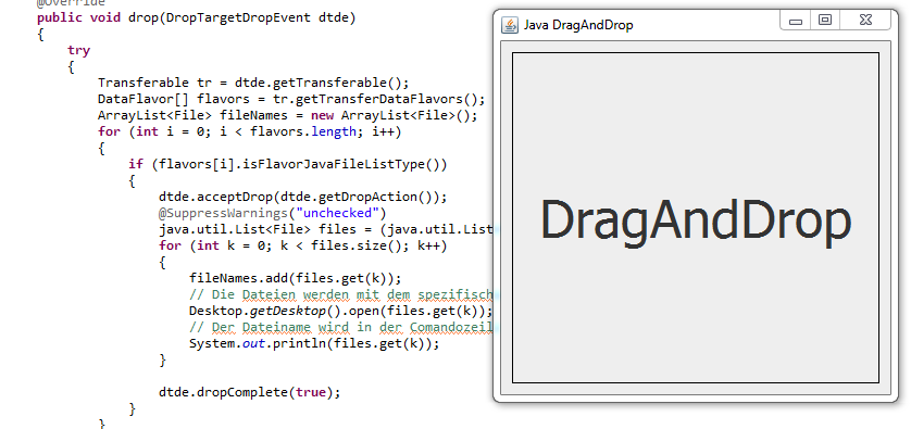 Java Drag and Drop (Swing Beispiel) - ST-Page