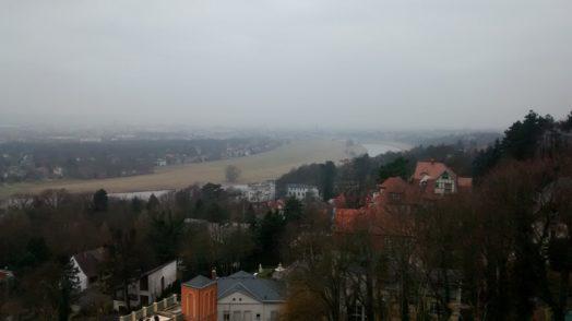 Sicht auf Dresden von der Terrasse des Luisenhofs