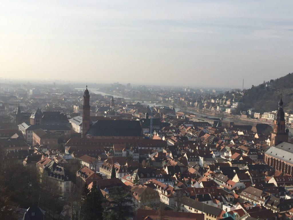 Von dem Schloss kann man die Heidelberger Altstadt sehr schön sehen.