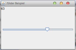 Java JSlider im JFrame