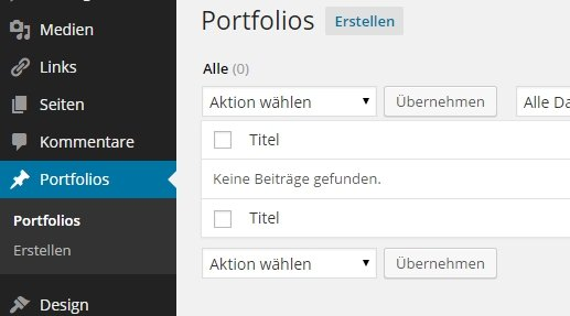Portfolio Manager Wordpress