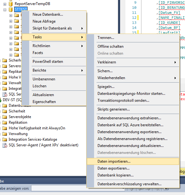 CSV Datei in MS SQL Server importieren (Tutorial) - ST-Page