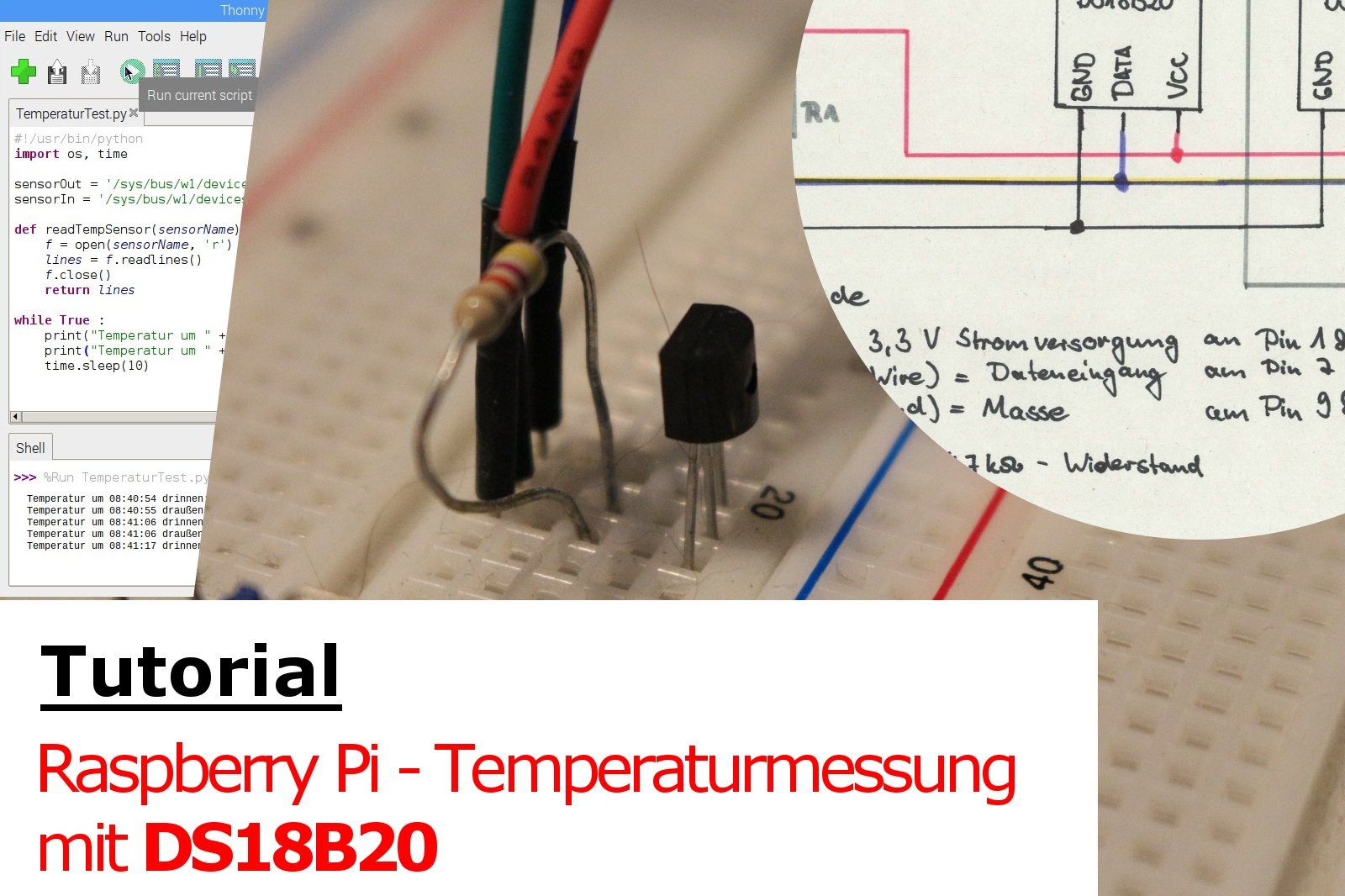 Tutorial: Raspberry Pi - Temperaturmessung mit DS18B20